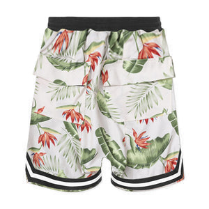 Floral Mesh Shorts S2 - White - Insurgence Wear - Affordable Streetwear Essentials