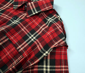 Oversized Flannel Shirt - Red - Quality Affordable Streetwear