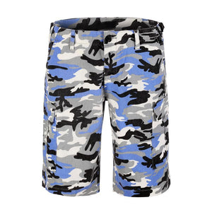 Camo Cargo Shorts - Blue - Insurgence Wear - Affordable Streetwear Essentials