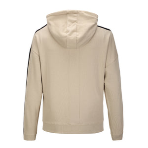 Striped Zipper Terry Hoodie - Khaki - Insurgence Wear - Affordable Streetwear Essentials