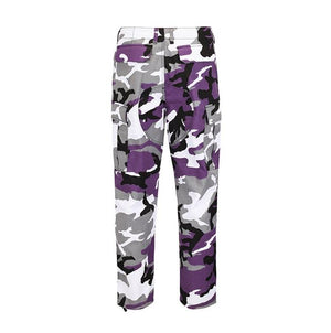 Camo Cargo Pants - Purple - Insurgence Wear - Affordable Streetwear Essentials