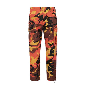 Camo Cargo Pants - Orange - Insurgence Wear - Affordable Streetwear Essentials