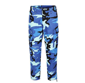 Camo Cargo Pants - Blue - Insurgence Wear - Affordable Streetwear Essentials