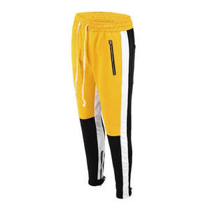 Retro Trackpants S3 - Black / Yellow - Insurgence Wear - Affordable Streetwear Essentials