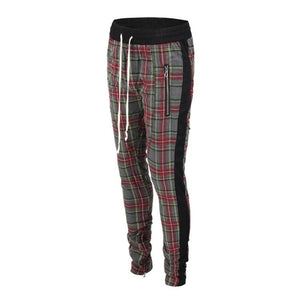 Plaid Trackpants - Grey - Insurgence Wear - Affordable Streetwear Essentials