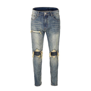 Destroyed Selvedge Denim - Blue