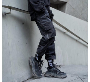 Multi-color Cargo Pants - Grey