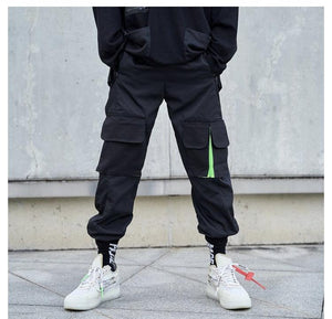 Multi-color Cargo Pants - Green