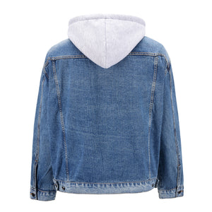 Hooded Denim Jacket - Blue - Insurgence Wear - Affordable Streetwear Essentials