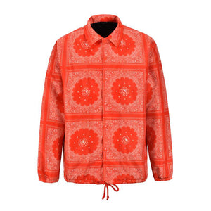 LA Quilted Coach Jacket - Orange - Insurgence Wear - Affordable Streetwear Essentials