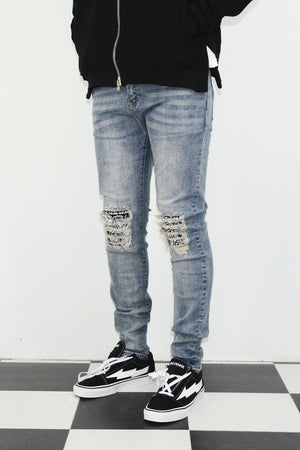 Union Ripped Denim - Blue - Insurgence Wear - Affordable Streetwear Essentials