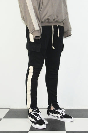 Retro Cargo Trackpants - White