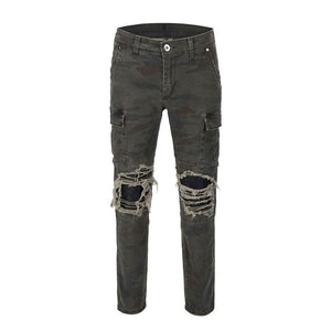 Ripped Camo Cargo Denim - Insurgence Wear - Affordable Streetwear Essentials