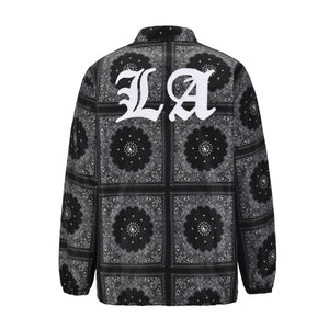 LA Quilted Coach Jacket - Black - Insurgence Wear - Affordable Streetwear Essentials