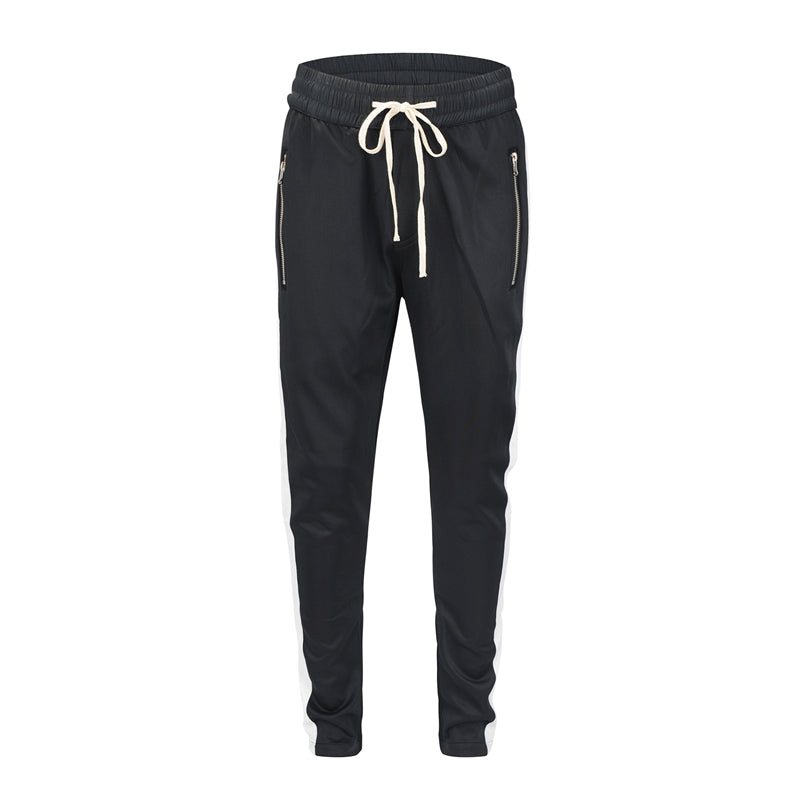 Retro Trackpants S1 - Black / White - Insurgence Wear - Affordable Streetwear Essentials