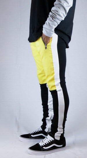 Retro Trackpants S3 - Black / Yellow - Premium Quality & Affordable Streetwear