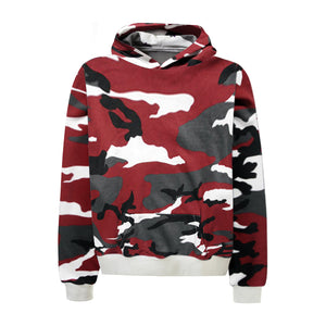 Camo Hoodie - Red - Quality Affordable Streetwear