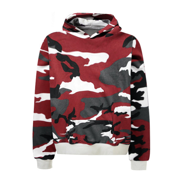 Camo Hoodie - Red - Insurgence Wear - Affordable Streetwear Essentials