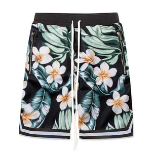 Floral Mesh Shorts - Black - Insurgence Wear - Affordable Streetwear Essentials