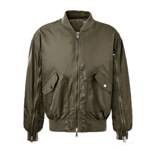 Dual Zip Bomber - Olive - Insurgence Wear - Affordable Streetwear Essentials