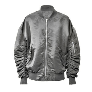 Essential Bomber Jacket - Silver - Insurgence Wear - Affordable Streetwear Essentials