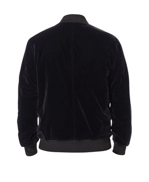 Premium Velour Velvet Bomber - Black - Insurgence Wear - Affordable Streetwear Essentials