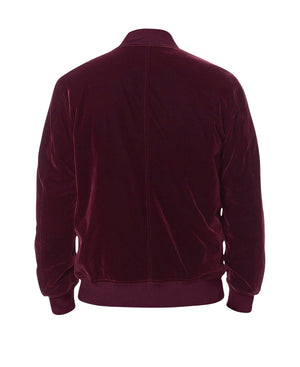 Premium Velour Velvet Bomber - Red - Insurgence Wear - Affordable Streetwear Essentials