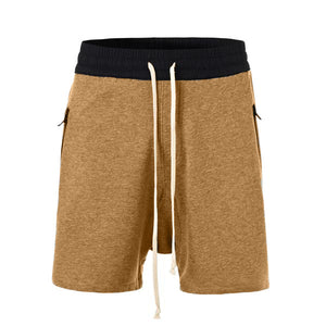Terry Drop Crotch Shorts - Tan - Insurgence Wear - Affordable Streetwear Essentials