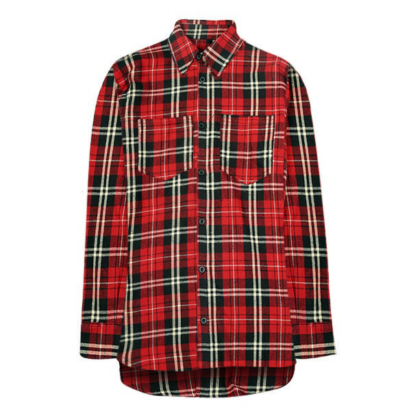 Oversized Flannel Shirt - Red - Premium Quality & Affordable Streetwear