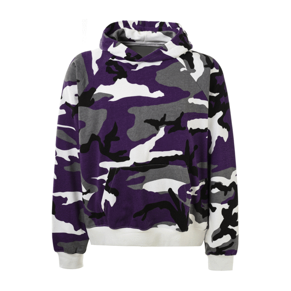 Camo Hoodie - Purple - Quality Affordable Streetwear