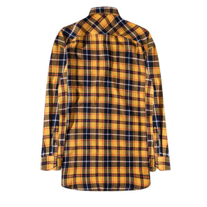 Oversized Flannel Shirt - Yellow/Blue - Premium, Affordable Streetwear
