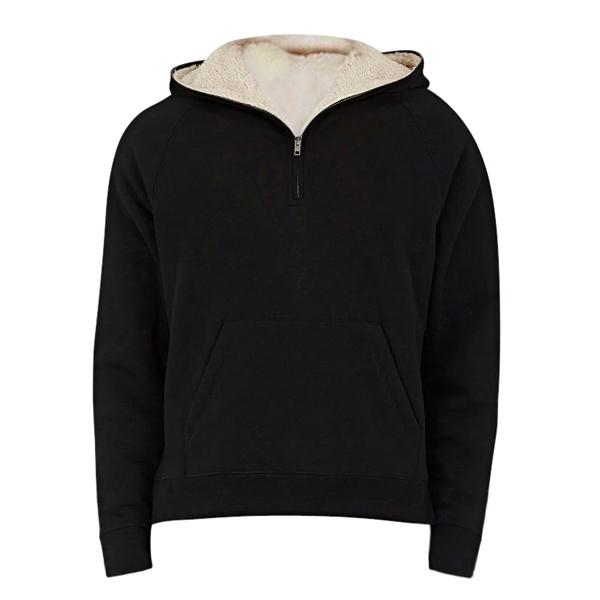 Premium Half Zip Fleece Zipper Hoodie - Black - Insurgence Wear - Affordable Streetwear Essentials