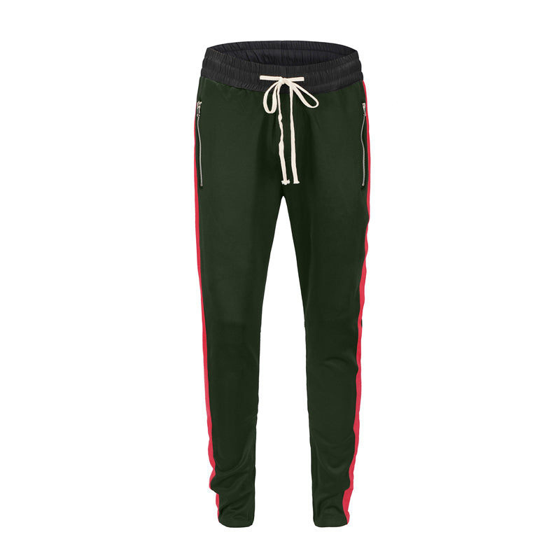 Retro Trackpants S1 - Green / Red - Insurgence Wear - Affordable Streetwear Essentials