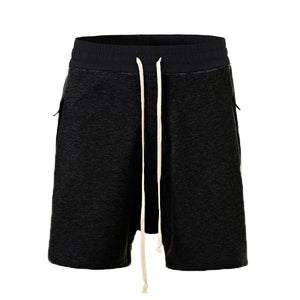 Terry Drop Crotch Shorts - Black - Insurgence Wear - Affordable Streetwear Essentials