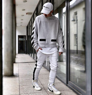 Retro Trackpants S1 - White / Black