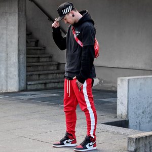 Retro Trackpants S1 - Red / White - Insurgence Wear - Affordable Streetwear Essentials