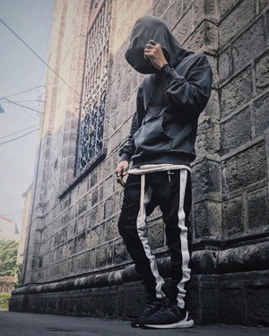 Retro Trackpants S2 - Black double White - Premium Quality & Affordable Streetwear