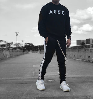 Retro Trackpants S1 - Black / White - Quality Affordable Cheap Streetwear - Insurgence Wear