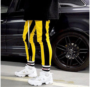 Retro Trackpants S2 - Yellow double Black - Insurgence Wear - Streetwear Essentials