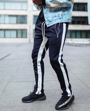 Retro Trackpants S1 - Blue / White - Insurgence Wear - Affordable Streetwear Essentials