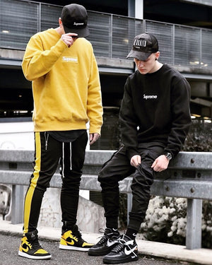 Retro Trackpants S1 - Black / Yellow