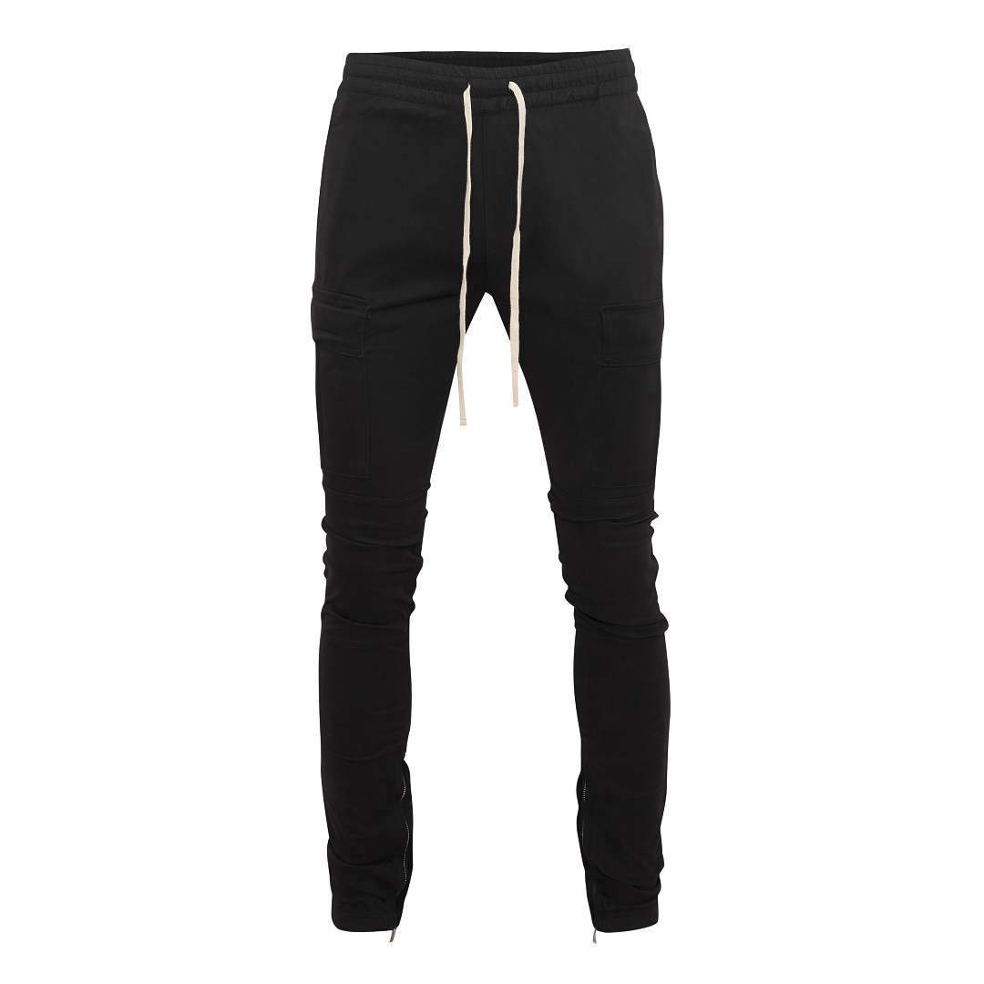 Essential Zipper Cargo Pants - Black - Insurgence Wear - Affordable Streetwear Essentials