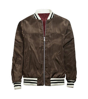 Velvet Brown Bomber Jacket - Insurgence Wear - Affordable Streetwear Essentials