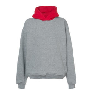 Contrast Oversized Hoodie - Grey / Red - Insurgence Wear - Affordable Streetwear Essentials