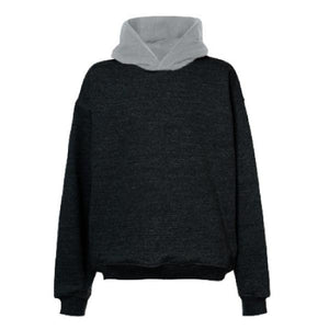 Contrast Oversized Hoodie - Grey / Red - Quality Affordable Streetwear - Insurgence Wear