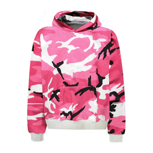 Camo Hoodie - Pink - Quality Affordable Streetwear