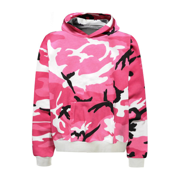 Camo Hoodie - Pink - Premium Quality & Affordable Streetwear