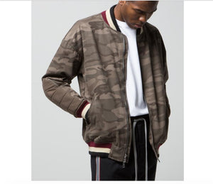 Camo Bomber Jacket - Quality Affordable Streetwear