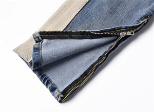 Ripped Stripe Denim - Blue - Premium Quality & Affordable Streetwear