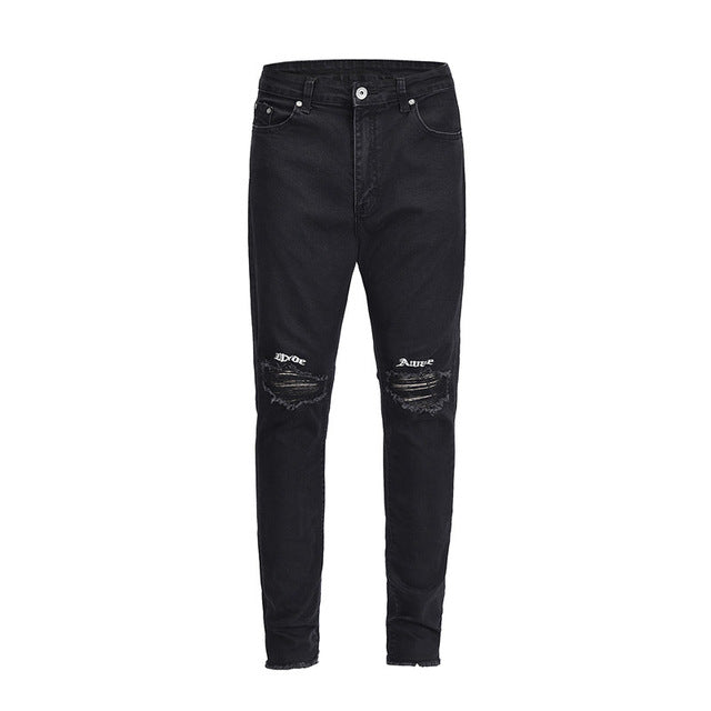 Wide Awake Ripped Denim - Black - Premium, Affordable Streetwear